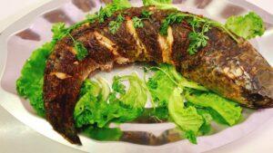 cá nướng bằng nồi chiên không dầu